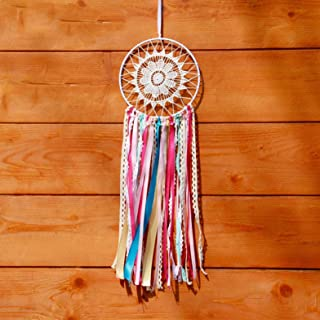 1 Pack Colorful Wind Chimes Dream Catcher India Lace Pendant Gift Mini Arts Craft Rainbow Owl Feathers Hanging Bedding Room Imperial Popular Dreamcatchers Girls Bedroom Decor Car Wall Catchers Kit