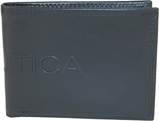 Men's Leather Bifold Wallet with Coin Pocket