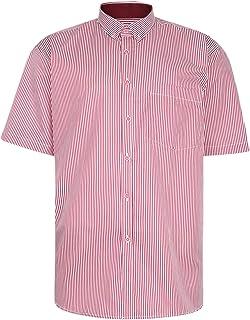 Kam Mens Big Size Casual Short Sleeve Stripe Shirt (643)