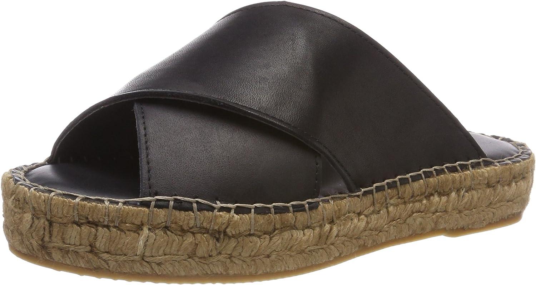 Royal RepubliQ Damen Wayfarer Cross Sandal-Blk Slipper  | Elegante Form
