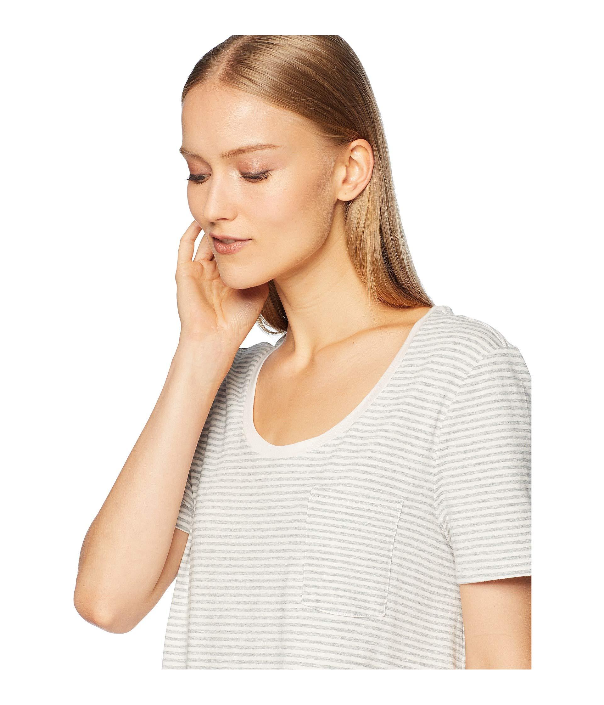 "Stripe Natural Marilyn Shirt 34"" Skin Pink pearl Sleep Grey Heather Z7ATnpqv"