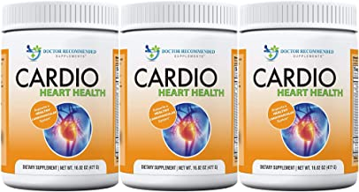 Cardio Heart Health-L-Arginine Powder Supplement-5000mg plus 1000mg L-Citrulline-with Minerals, and Antioxidants Vitamin C & E-Total Cardiovascular System Health-Formulated by REAL DOCTORS (Pack of 3)