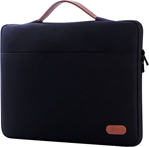 "ProCase 14-15.6 Inch Laptop Sleeve Case Protective Bag, Ultrabook Notebook Carrying Case Handbag for MacBook Pro 16"" / 14"" 15"" 15.6"" Dell Lenovo HP Asus Acer Samsung Sony Chromebook Computers -Black product image"