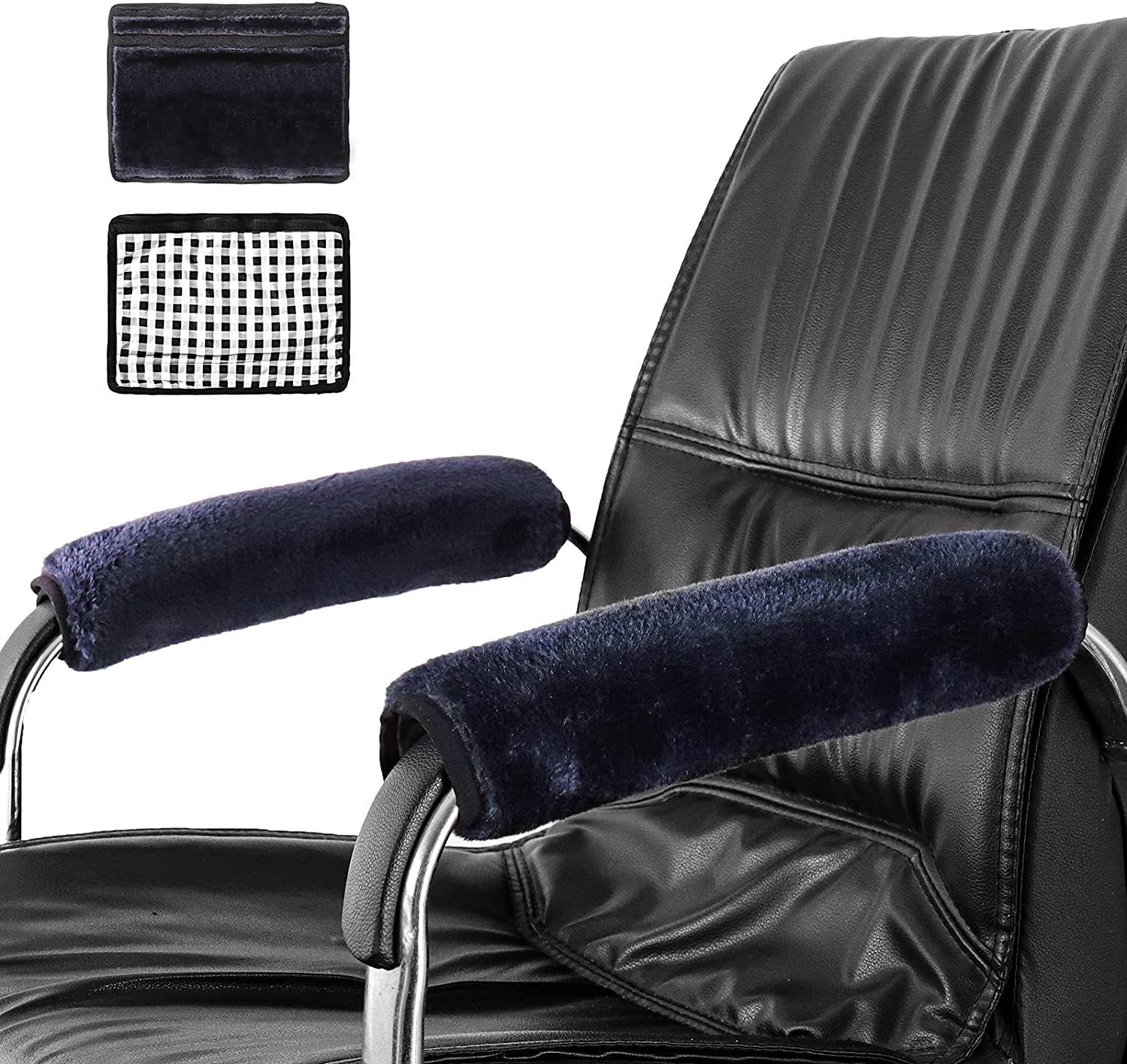 MLGB Chair Armrest Pads Office Chair Arm Cushions Ergonomic Chair Arm Rest Covers Furniture Protectors 2 Piece Comfy Gaming Desk Chair Elbow Pillow Support for Elbows and Forearms Pressure Relief