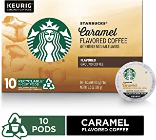 Starbucks Caramel Flavored Medium Roast Single Cup Coffee for Keurig Brewers, Box of 10 K-Cup Pods