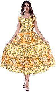 6TH AVENUE STREETWEAR Women's Cotton Dress (Free Size)