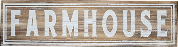 Barnyard Designs Large Wooden Farmhouse Sign Rustic Vintage Primitive Country Wall Decor 30 X 8
