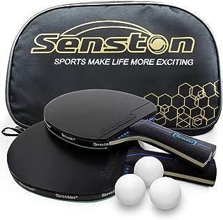 comprar comparacion Senston Juego de Raquetas de Tenis de Mesa 3 Pelotas, 2 Palos de Ping Pong Profesionales, Juego de Tenis de Mesa con Bolsa...