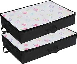 Simple Houseware 2 Pack Under Bed Storage Bin, Black