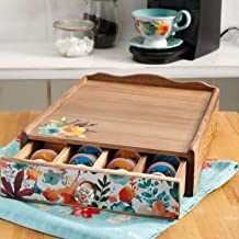 Dongxiong Coffee tea bags pocketed storage rack household kitchen drawer storage box scraped wood