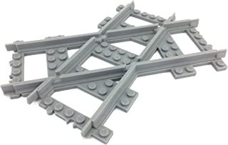 TrixBrix Crossed Tracks 45deg Right Version, Compatible with Lego Train, 3D Printed!