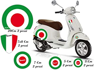 3 Adesivi Resinati PIAGGIO 3D Blu 15 mm auto moto scooter