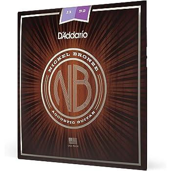 D'Addario Nickel Bronze Acoustic Guitar Strings, Light, 11-52