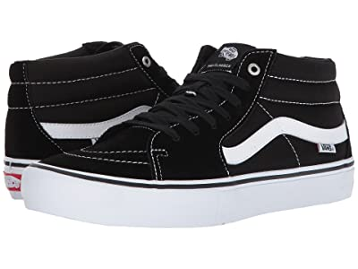 Vans Sk8-Mid Pro (Black/White) Men