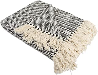 DII Rustic Farmhouse Cotton Chevron Blanket Throw with Fringe For Chair, Couch, Picnic,..