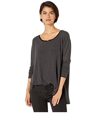 Hard Tail Shirttail Notch Front Tee (Black) Women
