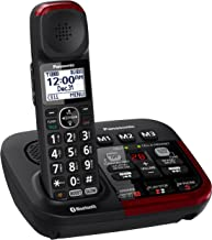 PANASONIC Link2Cell KX-TGM430B Bluetooth Amplified Cordless Phone with Digital Answering Machine Talking Caller ID Keypad and Phonebook - 1 Handset (Black)