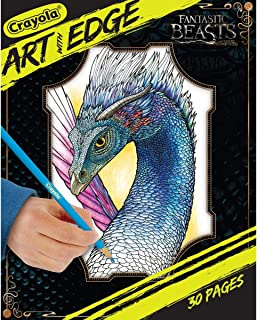 CRAYOLA 04-0117 Art With Edge, Fantastic Beasts Coloring Book, Gift, 30 Pages