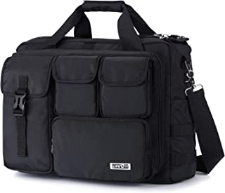 Lifewit 17 inch Men's Military Laptop Messenger Bag Multifunction Tactical Briefcase Computer Shoulder Handbags Pilot Bag, Black