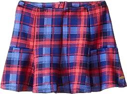 Plaid Printed Neoprene Skirt (Little Kids)
