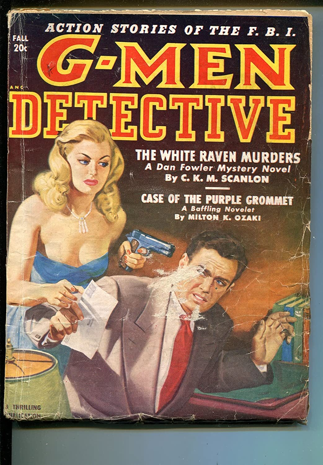 G-Men Detective Fall 1950-Thrilling-gun Max 79% OFF cover-Louis L'Amour moll Max 75% OFF