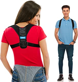 Posture Corrector for Men and Women - Comfortable Upper Back Brace Clavicle Support Device for Thoracic Kyphosis and Shoulder - Neck Pain Relief - FDA Approved