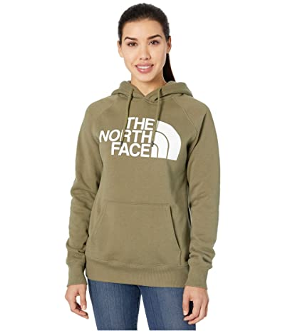 The North Face Half Dome Pullover Hoodie (Burnt Olive Green) Women
