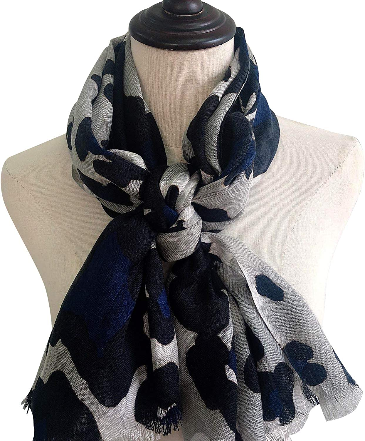 Scarf Printing Large Long Wrap Shawl with Tassel - Super Soft and Cozy Fashion Luxurious Classic Cashmere Feel all season Knitted Scarf for women and men by Faye Forest Gallery E03004