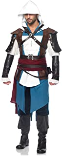 Leg Avenue Men's Assassin's Creed 9 Piece Edward Deluxe Costume Cosplay
