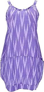 Mini Vestido de Boho Chic con Túnica de Impresión Mandala, Algodón, Vestidos Cortos