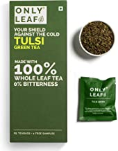 Onlyleaf Green Tea - Tulsi, 25 Bags (2 Free Exotic Samples)