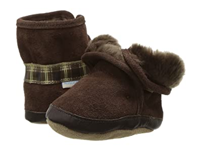 Robeez Cozy Ankle Bootie Bootie (Infant/Todder) (Brown) Boys Shoes