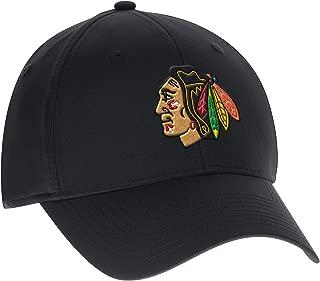 Mitchell & Ness Chicago Blackhawks Black Cotton Flex Fit Slouch Hat