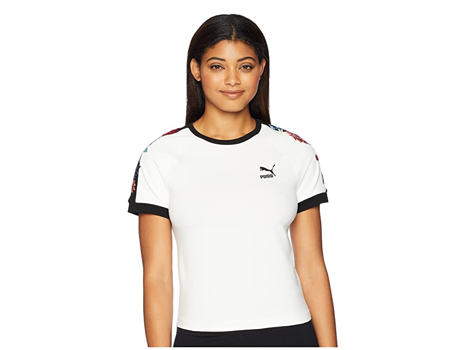 PUMA Embellished Crop Tee (White) Women