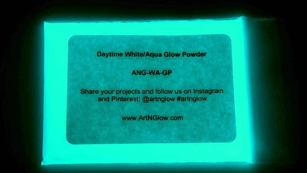 Neutral Aqua Glow in The Dark Powder (1 Ounce/30 Grams) - 10+ Colors Available