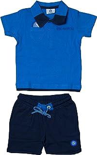 SSC NAPOLI P19i1n90618 Conjunto para Infant: Polo de Manga Corta con pantalón, Unisex, bebés 0-24