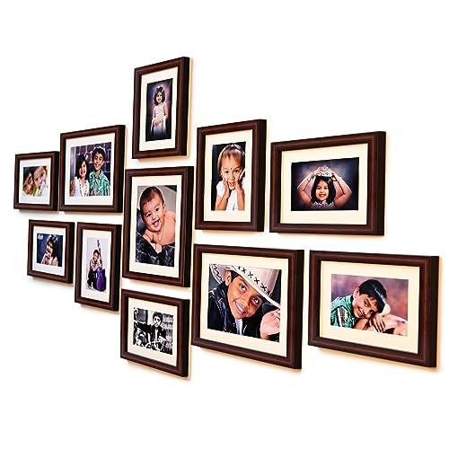 Ajanta Royal Classic Set Of 11 Individual Photo Frames (8-6X8 & 3-8X10) : A-78B (Brown)
