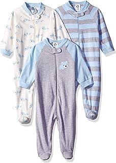 Baby Boys' 3-Pack Organic Sleep 'N Play