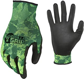 Gorilla Grip Unisex Fishing Gloves | Slip Resistant All-Purpose Recreational and Work Gloves | Available in Multiple Style...
