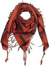 ruiruiNIE 140x140 CM para Hombre Pa/ñuelo Turbante Sombrero Musulmanes /Árabes Dubai Retro Geom/étricos Patrones ondulados Jacquard Bufanda Cuadrada Chal Hijab Isl/ámico Bandana Headwrap Rojo