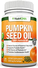 PUMPKIN SEED OIL – 1000MG – 180 Softgels – Cold-Pressed Natural Pumpkin..