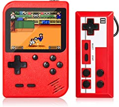 Handheld Game Console, Retro Mini Game Player with 500 Classic FC Games, 3.0 Inch Screen 800mAh Rechargeable Battery Porta...
