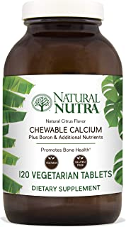 Natural Nutra Calcium Citrate Chewables with Magnesium and Vitamin D3, 1000/500 mg, Cal Mag D3 Chews for Bone, Teeth, Heart, Muscle and Nerve Health, Delicious Citrus Flavor, 120 Vegetarian Tablets