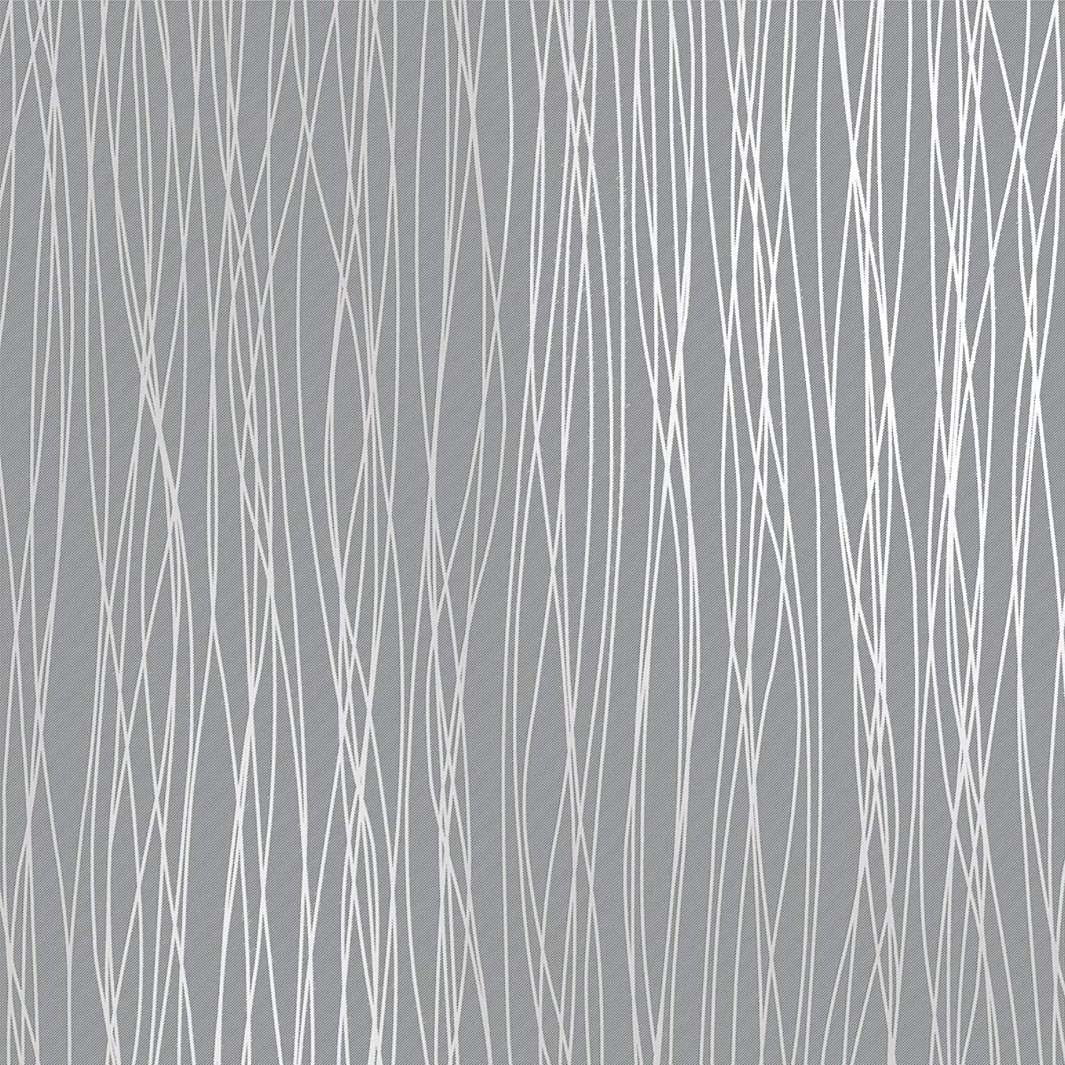 Mavee Non-Woven 3D Wallpaper, 20.8In x 32.8Ft Modern Print Embossed Stripe Fashion Wallpapers for Livingroom, Bedroom, Kitchen and Bathroom, Silver Grey
