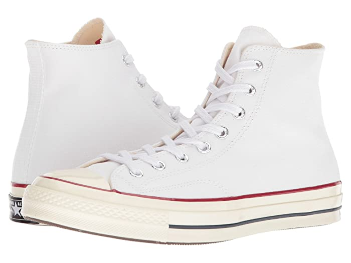 Converse  Chuck Taylor All Star 70 Hi (White/Garnet/Egret) Athletic Shoes