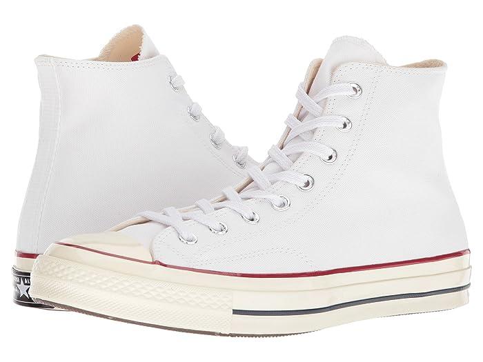 Converse  Chuck Taylor All Star 70 Hi (White/Garnet/Egret) Athletic Shoes