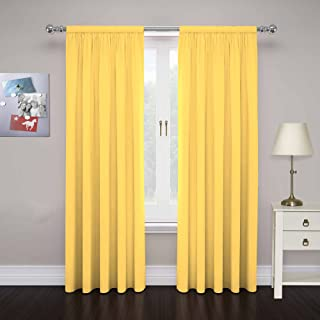 sunshine yellow curtains