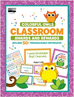 Carson Dellosa | Colorful Owls Awards and Rewards | Printable
