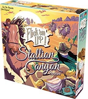 Flick'em Up Stallion Canyon Board Game