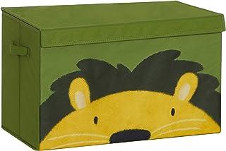 SONGMICS Boîte à Jouets, Coffre de Rangement pour Enfants, Organisateur Pliable avec poignées et Couvercle, 60 x 35 x 38 c...